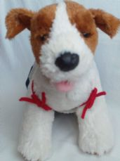 Adorable Big 'Dog Fully Clothed' Build-a-Bear with Red Collar Plush Toy